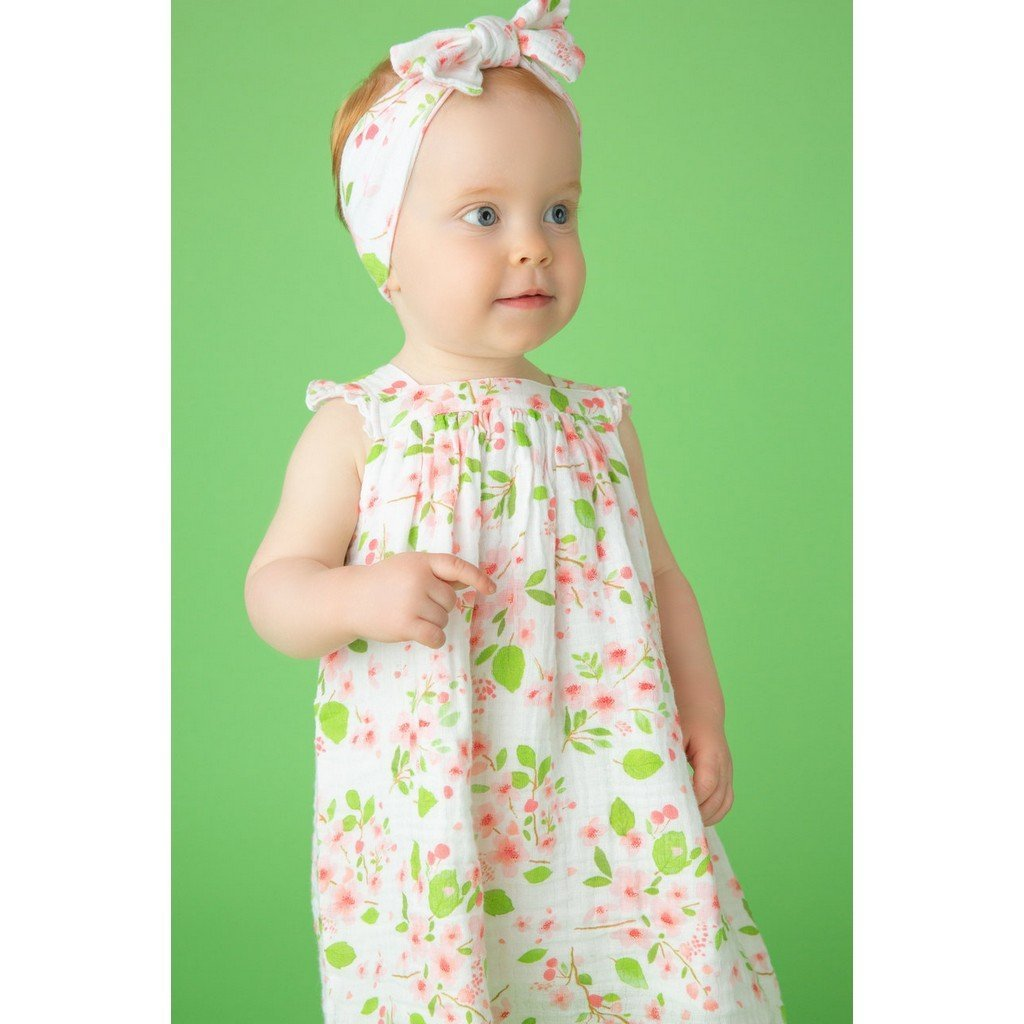 Angel Dear Girls Apparel Angel Dear Toddler Sun Dress in Cherry Blossoms Print