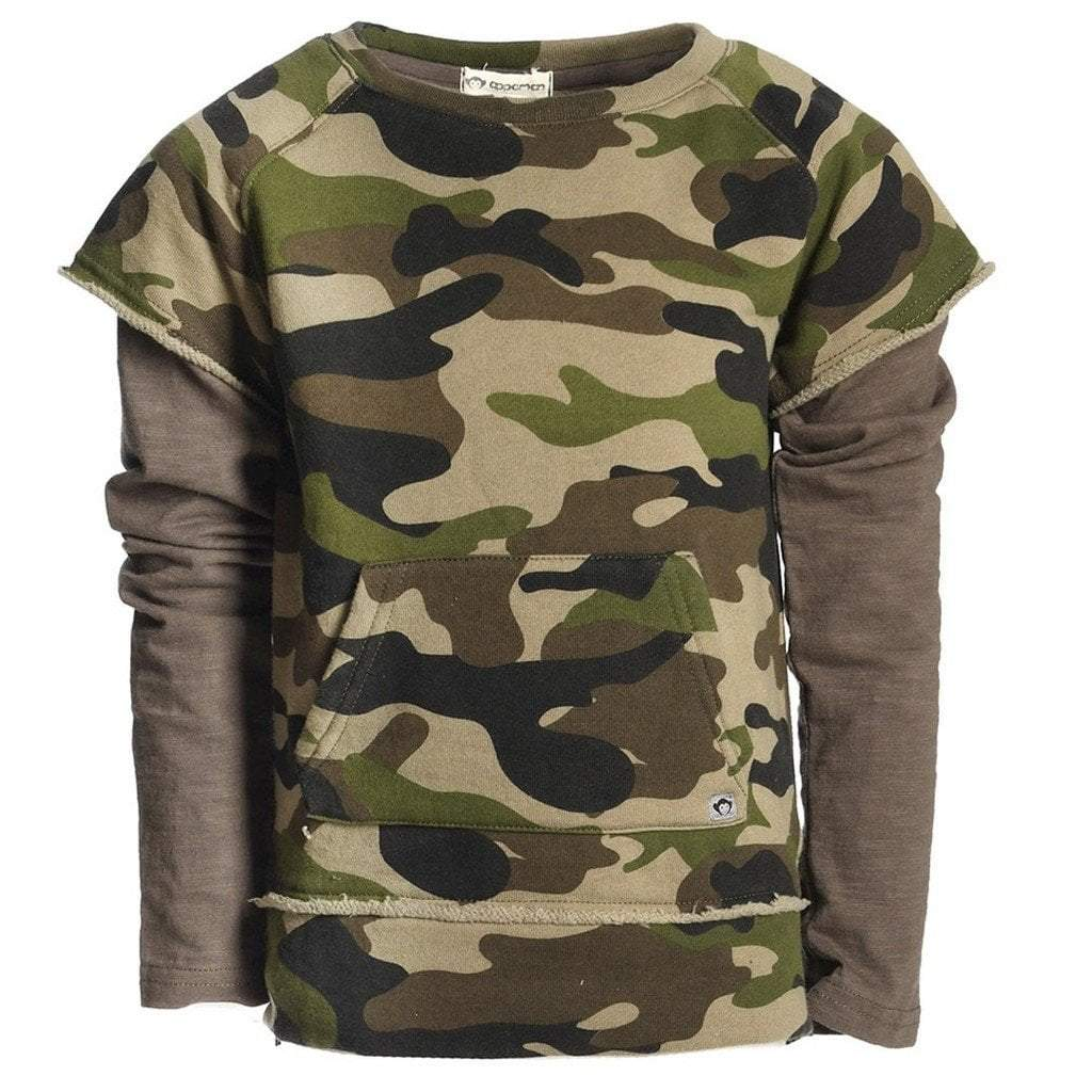Appaman Apparel Appaman Freestyle Long Sleeve Shirt Green Camo