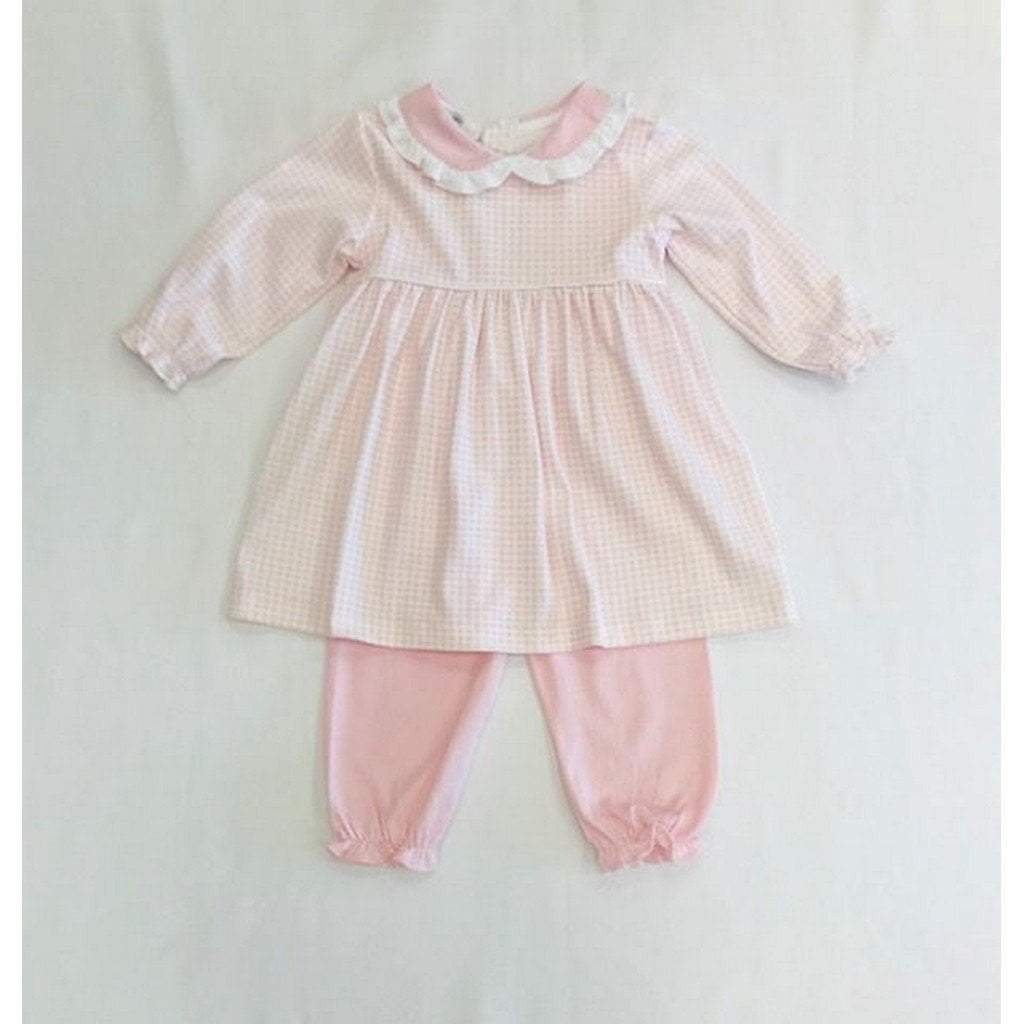 Baby Bliss Apparel 12-18 Mo Baby Bliss Olivia Pink Gingham Dress and Pant Set