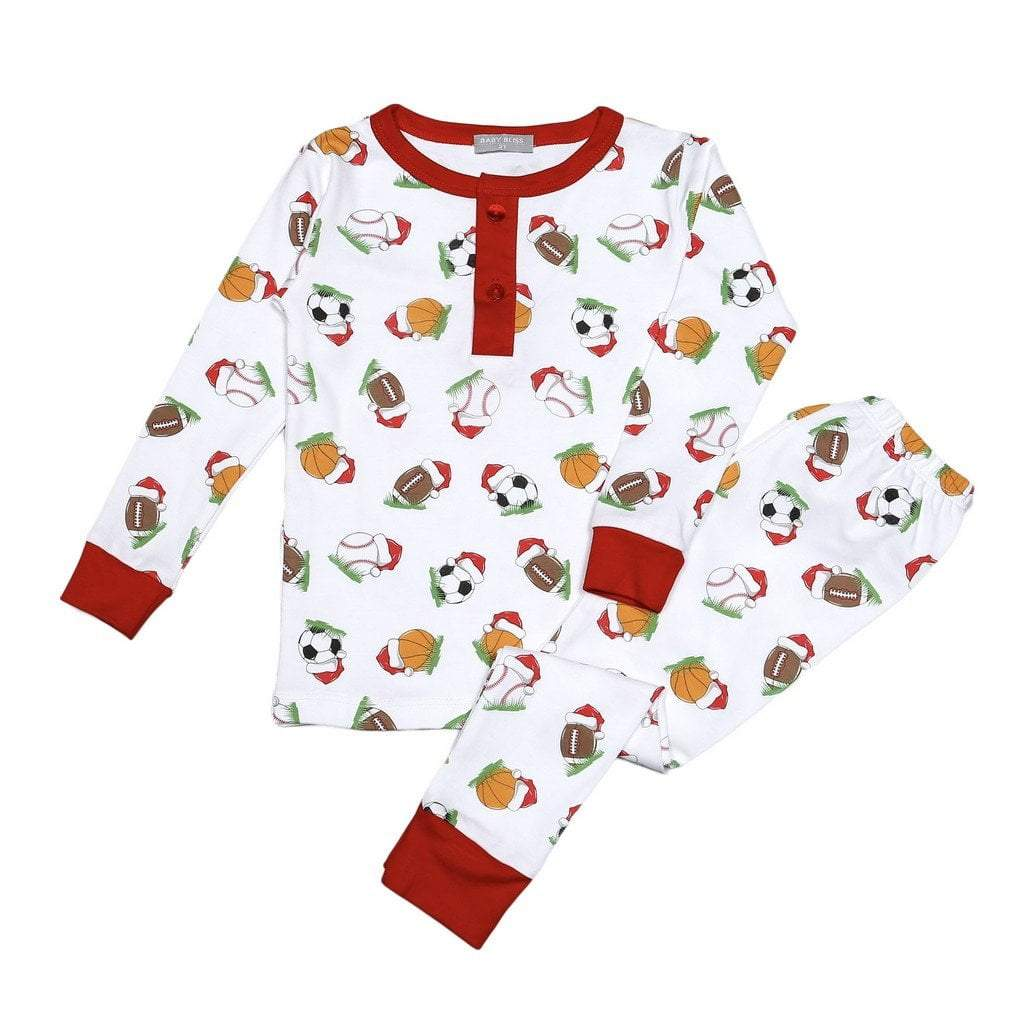 Baby Bliss Apparel 9-12 Mo / Sports Baby Bliss Sports in Christmas Pima Loungewear