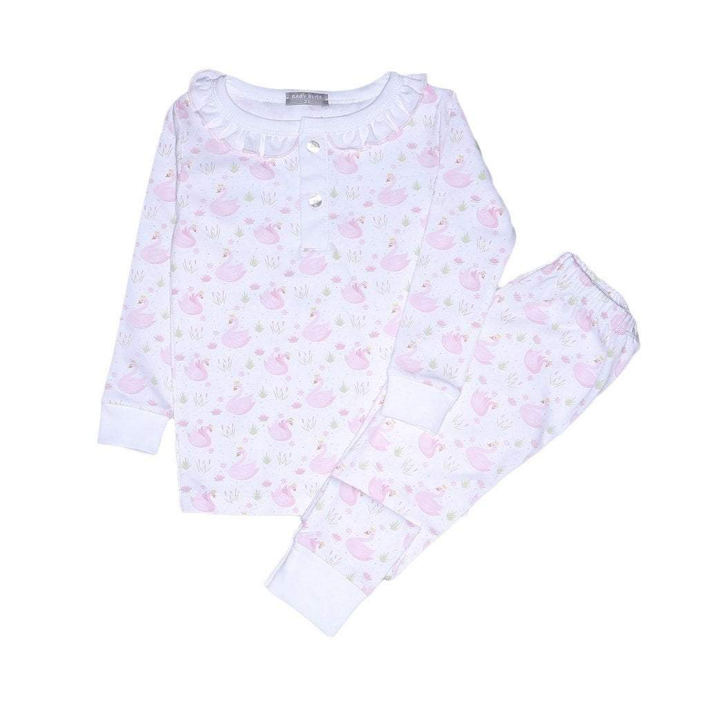 Baby Bliss Apparel 2 Toddler / Swan Baby Bliss Swan Pima Loungewear