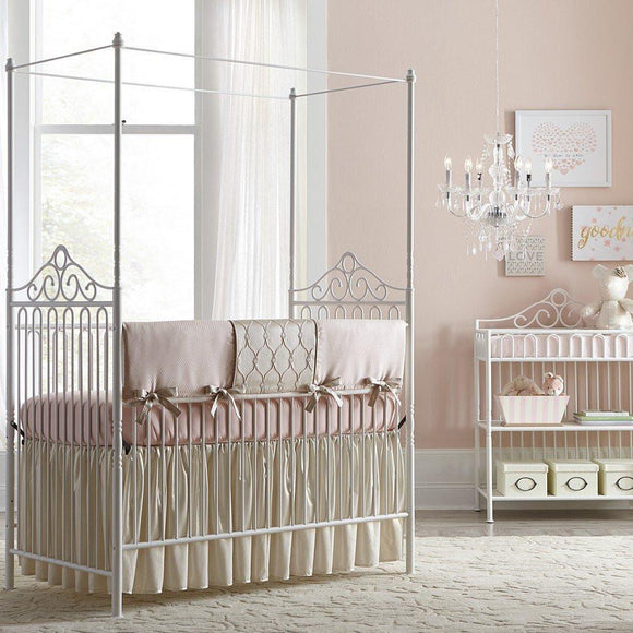 Baby's Dream Furniture Angelica Iron Canopy Baby Bed-Furniture-Babysupermarket