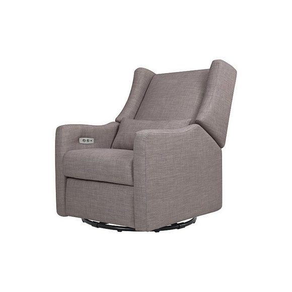 Babyletto Kiwi Electric Glider Recliner Grey Tweed-Furniture-Babysupermarket