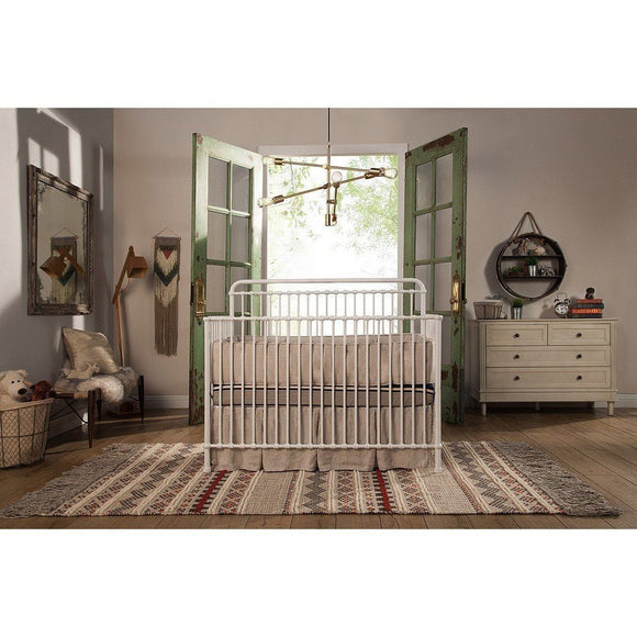 Franklin & Ben Winston 4 in 1 Iron Convertible Crib Distressed White-Furniture-Babysupermarket