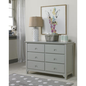 Ti Amo Carino and Catania Double Dresser Misty GreyFurnitureBabysupermarket