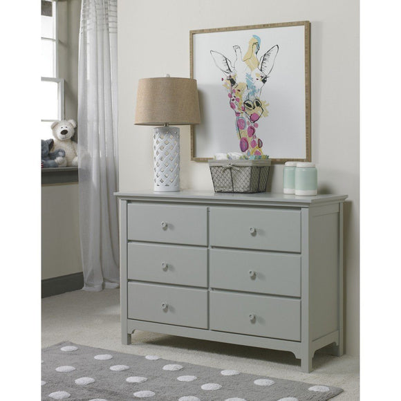 Ti Amo Carino and Catania Double Dresser Misty Grey-Furniture-Babysupermarket