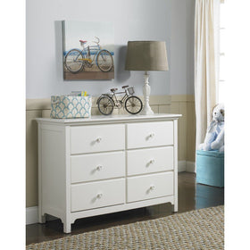 Ti Amo Carino and Catania Double Dresser Snow WhiteFurnitureBabysupermarket