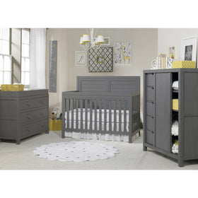Ti Amo Castello Full Panel Convertible Baby Crib Weathered Grey-Furniture-Babysupermarket