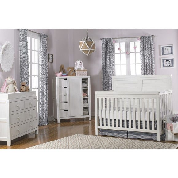 Ti Amo Castello Full Panel Convertible Baby Crib Weathered Sea Shell-Furniture-Babysupermarket