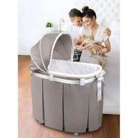 Badger Basket Wishes Oval Baby Bassinet-Furniture-Babysupermarket