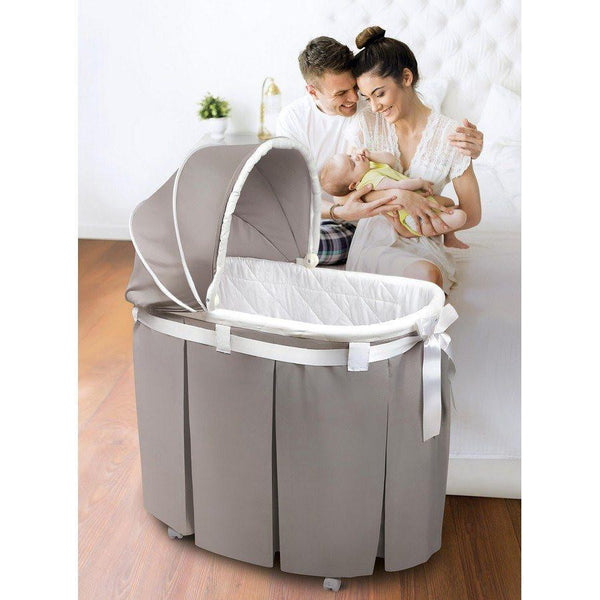 Badger Basket Wishes Oval Baby Bassinet Gray