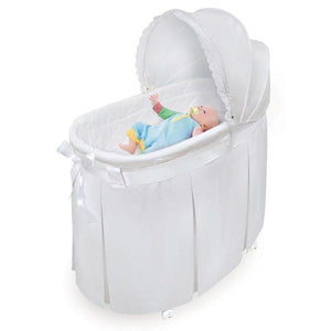 Badger Basket Furniture Badger Basket Wishes Oval Baby Bassinet White