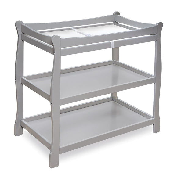 Badger Basket Furniture Badger Sleigh Nursery Changing Table Gray