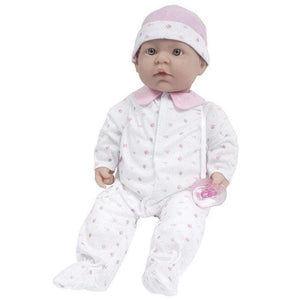 JC Toys Dolls Berenguer Boutique La Baby Soft Baby Doll in Pink Outfit with Pacifier