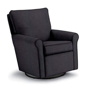 Best Furniture Best Chairs Kacey Swivel Glider- Navy