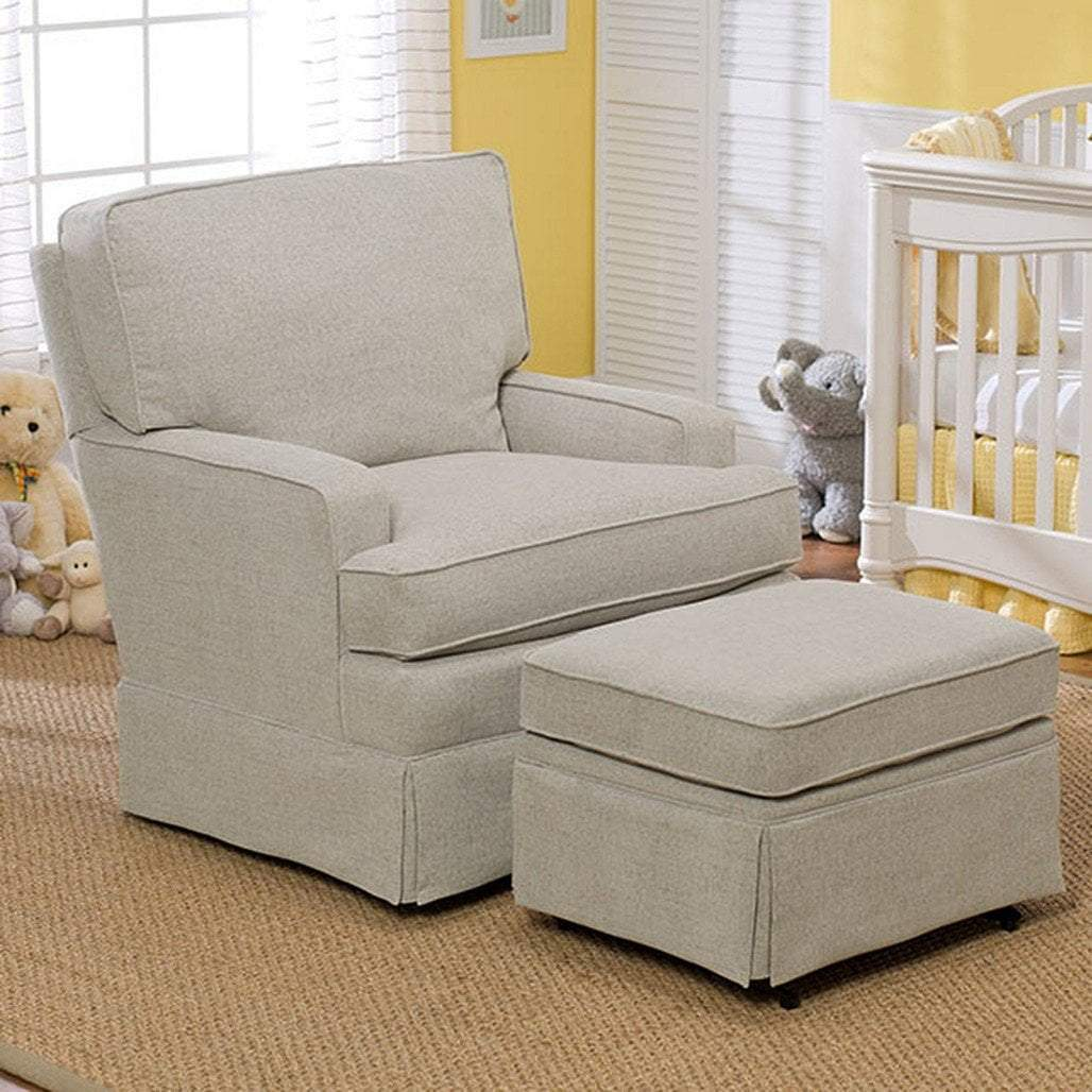 Best Furniture Best Chairs Rena Swivel Glider with Matching Ottoman