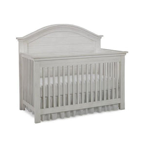 Bivona Dolce Babi Lucca Convertible Baby Bed and Double Dresser Seashell White-Furniture-Babysupermarket