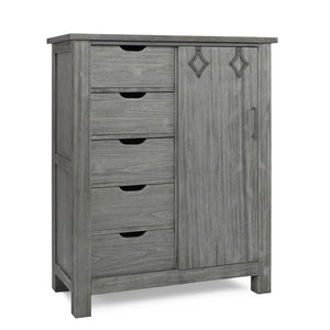 Dolce Babi Lucca Weathered Grey Chifforobe-Furniture-Babysupermarket