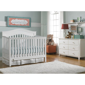 Fisher-Price Aubree Convertible Crib Snow White-Furniture-Babysupermarket