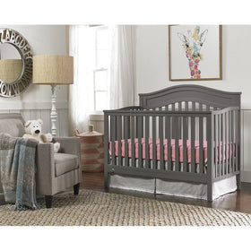 Fisher-Price Aubree Convertible Crib Stormy Grey-Furniture-Babysupermarket