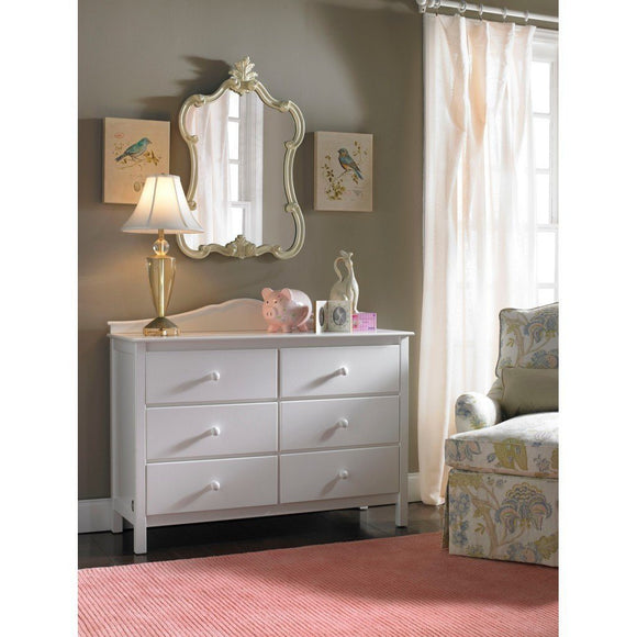 Fisher-Price Double Dresser with 6 Drawers Snow White-Furniture-Babysupermarket