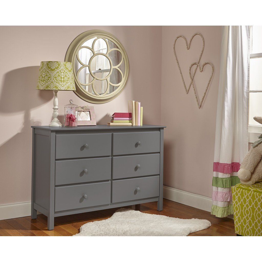 Fisher-Price Double Dresser with 6 Drawers Stormy Grey-Furniture-Babysupermarket