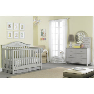 Fisher-Price Mia Convertible Crib Misty Grey-Furniture-Babysupermarket