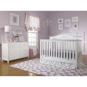 Fisher-Price Mia Convertible Crib Snow White-Furniture-Babysupermarket