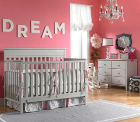 Fisher-Price Newbury Convertible Crib Misty Grey-Furniture-Babysupermarket