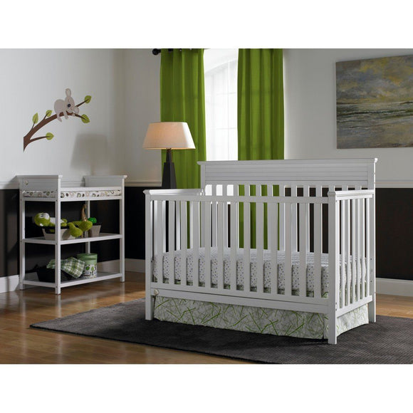 Fisher-Price Newbury Convertible Crib Snow White-Furniture-Babysupermarket
