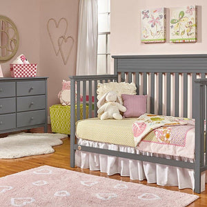 Fisher-Price Newbury Convertible Crib Stormy Grey-Furniture-Babysupermarket