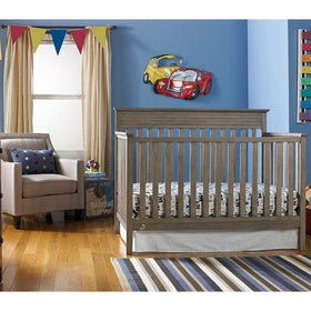 Fisher-Price Newbury Convertible Crib Vintage Grey-Furniture-Babysupermarket