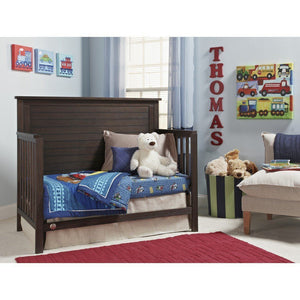Fisher-Price Quinn Full Panel Convertible Crib Weathered Brown-Furniture-Babysupermarket
