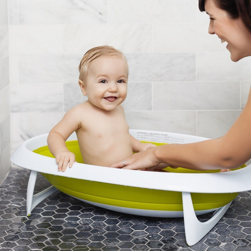 boon naked collapsible baby bathtub blue white. Black Bedroom Furniture Sets. Home Design Ideas
