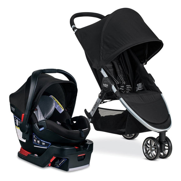 Britax Exclusive Solstice Travel System B Agile 3 with B Safe 35 Elite-Baby Gear-Babysupermarket