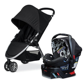 Britax B Agile Elite Travel System with B Safe 35 Carseat Cowmooflauge-Baby Gear-Babysupermarket