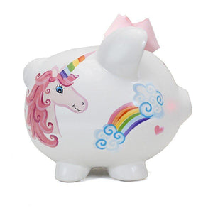 Child to Cherish Unicorns & Rainbows Piggy Bank-Gifts & Apparel-Babysupermarket