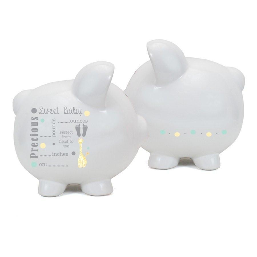 Child to Cherish Announcement Piggy Bank w/Pen-Gifts & Apparel-Babysupermarket