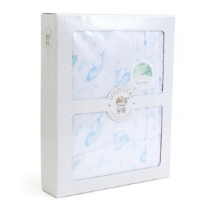 Child to Cherish Gifts & Apparel Child to Cherish Goldilocks Blanket Bubble and Whales Blue