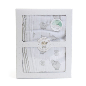 Child to Cherish Gifts & Apparel Child to Cherish Goldilocks Blanket Elephant and Bubbles Gray