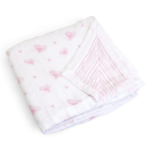 Child to Cherish Gifts & Apparel Child to Cherish Goldilocks Blanket Hearts and Stripes Pink