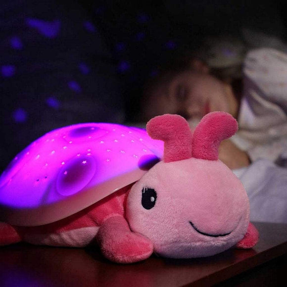 Cloud B Gifts & Apparel CloudB Twilight Ladybug Pink Starry Projector