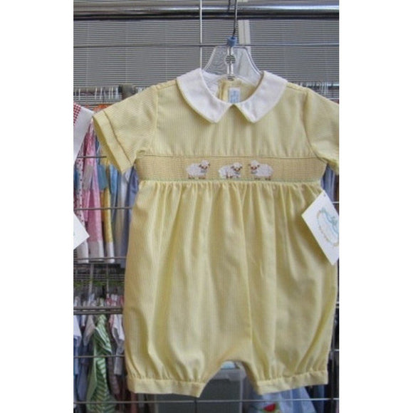 Vive La Fete Infant Apparel 12M / Yellow Collection Bebe by Vive La Fete Lamb Boy's Bubble