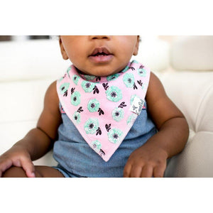Copper Pearl Hidden Copper Pearl Baby Bandana Bib Bloom Pink Mint Floral