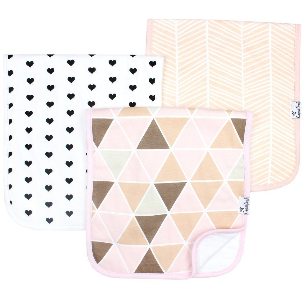 Copper Pearl Premium Burp Cloths Blush-Baby Care-Babysupermarket