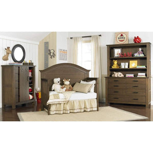 Bivona Furniture Copy of Bivona Dolce Babi Lucca Convertible Baby Bed and Double Dresser Weathered Brown