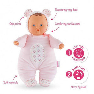 Corolle Dolls Corolle Babibear Night-Light Pink Soft Baby Doll