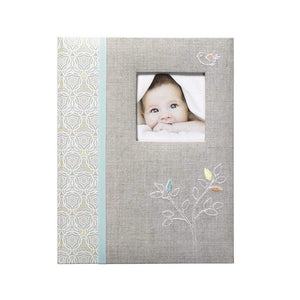 CR Gibson Gifts & Apparel CR Gibson Linen Tree Bound Baby Memory Book
