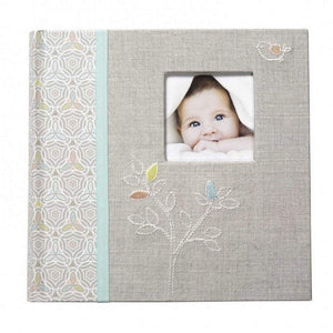 CR Gibson Gifts & Apparel CR Gibson Linen Tree Photo Journal Album