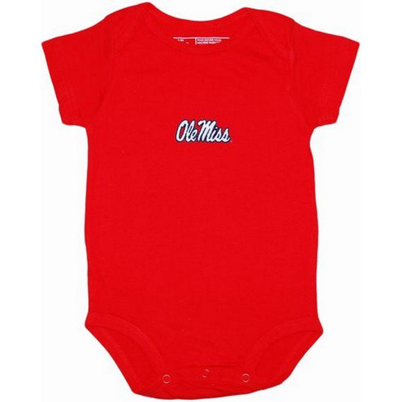 Creative Knitwear Gifts & Apparel 3-6 Months / Red Creative Knitwear Ole Miss Bodysuit